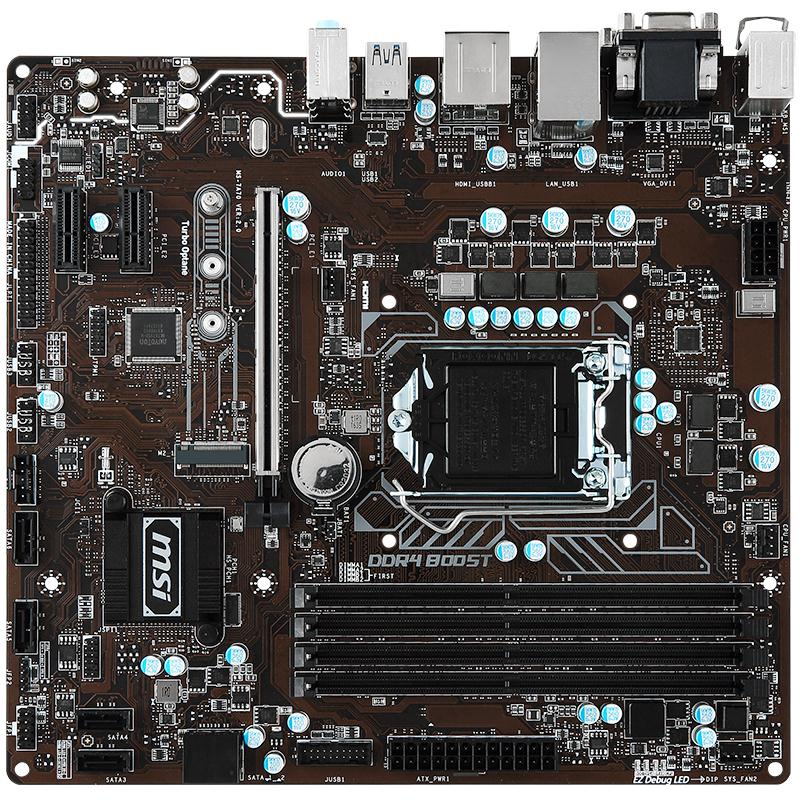 MSI B250M PRO-VDH Solid State Motherboard 1151 Pin with VGA Interface Compatible with 7500 материнская плата пк msi b350m pro vdh b350m pro vdh