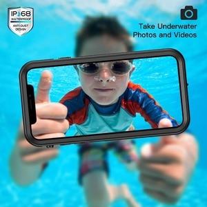 Image 2 - Coque étanche pour iPhone XR X XS Max 6 6S 7 8 Plus 360 coque arrière robuste et transparente avec Film de protection décran