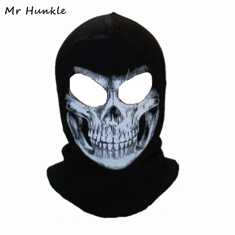 Hats Beanies Skull-Mask Hood Balaclava Ghost Out-Door Winter Casquette Gorros Men Hombre