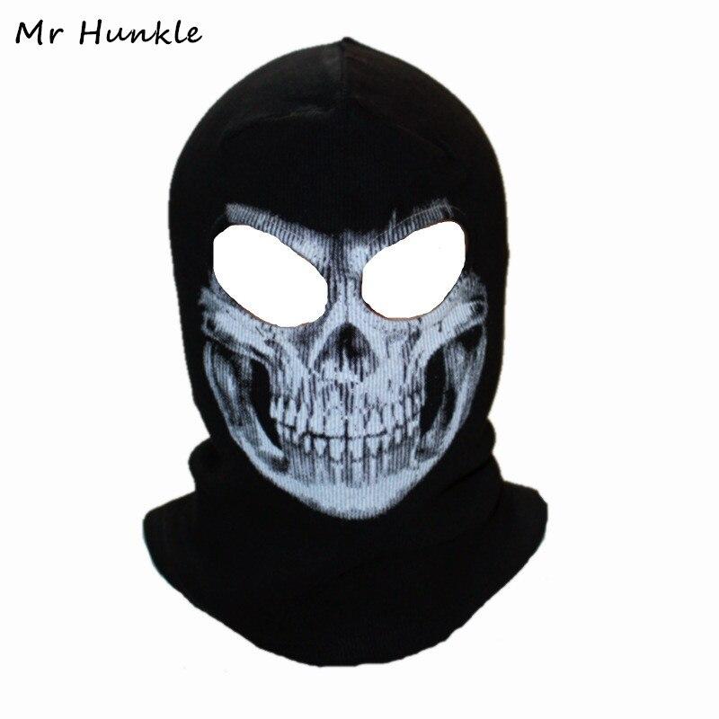 Winter Skull Mask Balaclava Beanies Hats Men Ghost Skull Full Face Mask out door Hood Beanie Gorros Hombre Casquette(China)
