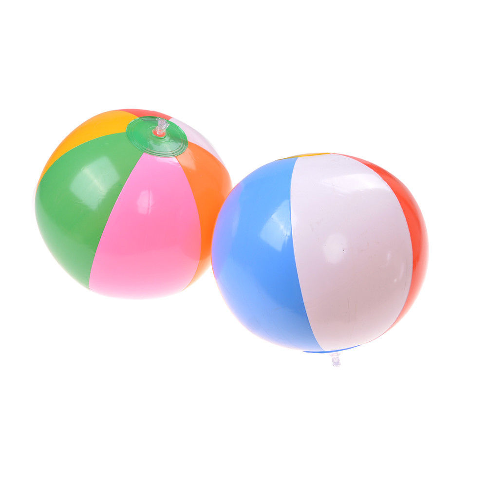 MYPANDA 1PCS Colored Inflatable 23cm Beach Ball Balloon Swimming Pool Play Party Water Game Ball Kids Fun Water Sport Toys