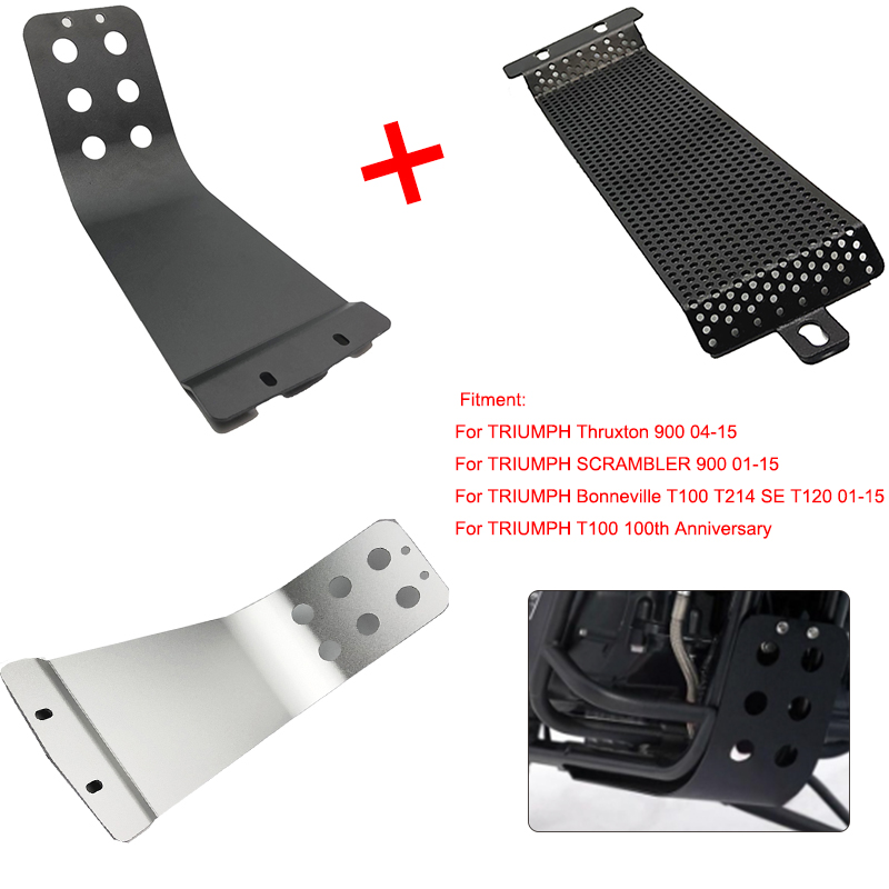 T100 Engine Guard Bash Skid Plate Cover For Triumph Bonneville T100 SE T214 SE T120 Thruxton 900 Scrambler 900 110th Anniversary image