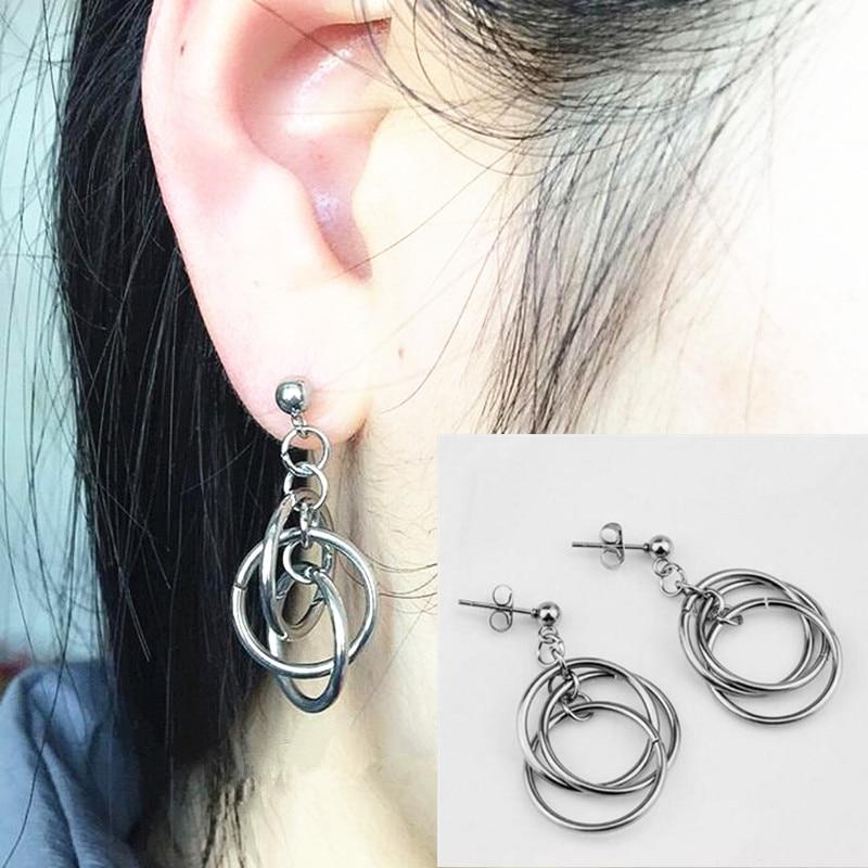 1pair Circle BTS V Earrings Studs Kpop BTS Bangtan Boys BTS Accesorios Album Korean Earrings Gifts Jewellery Earrings Women Men
