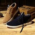 2017 Marca de Lujo de los hombres zapatos Planos Ocasionales del mens zapatos de cuero sapatos masculinos zapatillas de gamuza artificial al aire libre XX080