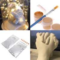 3d criar um molde molding clone pó fundição mão lembrança mãos diy kit de ferramentas