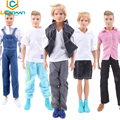 UCanaan Randomly Pick10 Sets Men Cool Casual Suit Clothes Prince Fashion Wear Outfit For Babie Friend Ken Doll Best Gift Toys