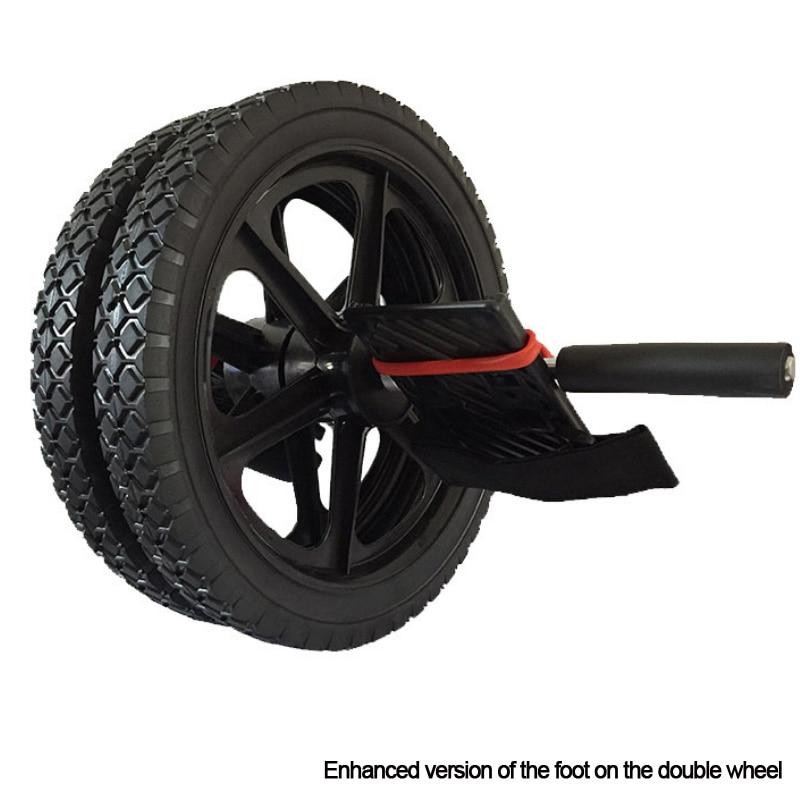Nuevo en forma ruedas ruido Abdominal rueda rodillo Ab para hacer ejercicio de equipos de Fitness paso en ambos barriga ruedas
