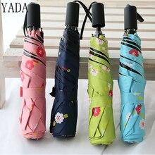 YADA Light Cherry Flower High Quality Charms Umbrella Rain Women uv For Womens Windproof Folding Pencil Umbrellas YS077
