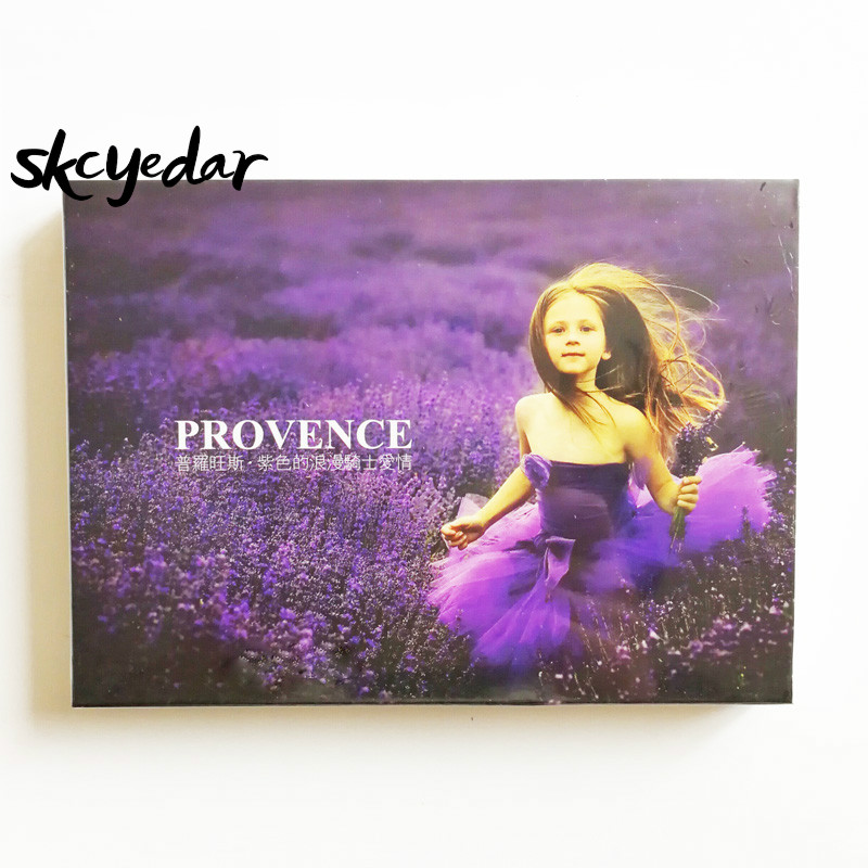 30Pcs Provence - Purple Romantic Lovely Gift Landscape Flowers Of French The Travel  Scenery  Photography Postcards
