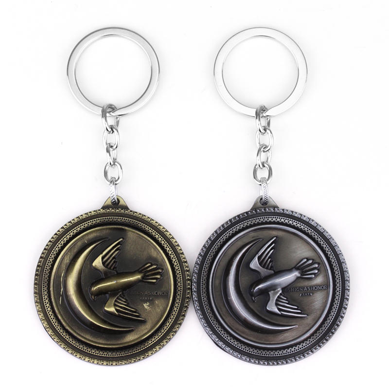 M2 Hot Sale Game Of Thrones House Arryn Eagle Logo Keychain A Song Of Ice And Fire Keyring Pendant For Men Car Accessories
