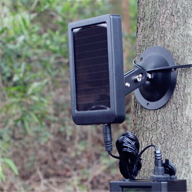 Digital Hunting Cameras Solar Charger Battery External Power For HC300 HC550G S680M S660 5210A Chase Trap Trail Wildlife Camera new original external battery charger for garmin montana 650 gps virb hd cameras
