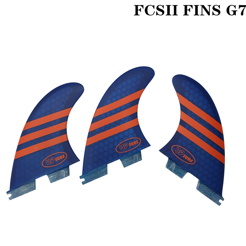 FCS2 G7 Size Surfboard New Style Red/Blue/Green/White Color Honeycomb Fins Tri Fin Set FCS 2 Fin Hot Sell FCS II Fin Quilhas