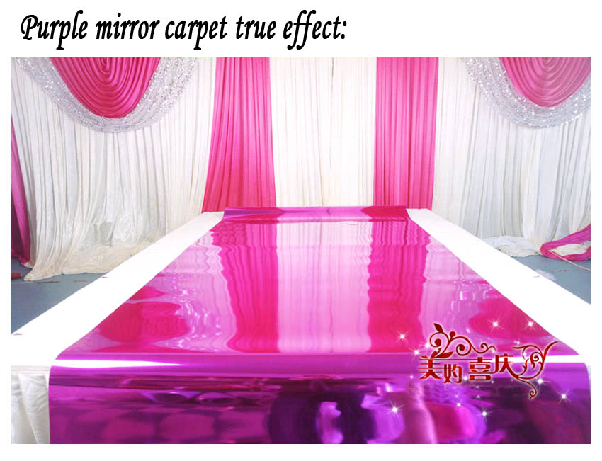 1 2m width wedding 10 meter double size mirror carpet or t for Double mirror effect