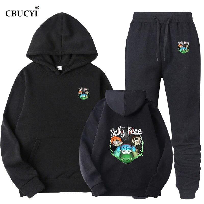 2019 Sally Face Hoodie Sweatshirt Men/women Sportswear Jersey + Sweatpants Suit Wool Hoodie Men Hip Hop Streetwear Cbucyi