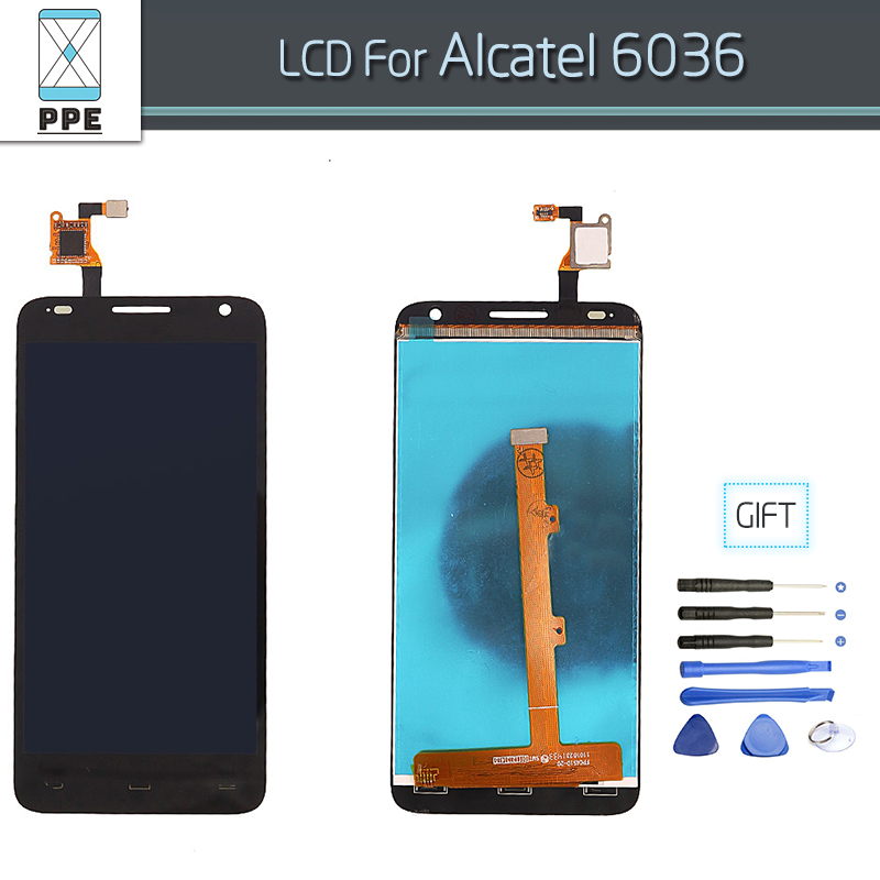 LCD for Alcatel OT6036 6036 OneTouch Idol 2 Mini S LCD display touch screen digitizer assembly 4.5 pantalla black+repair tools
