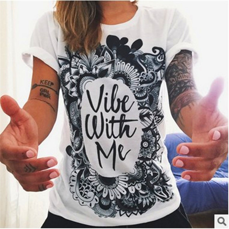 STERNBILD Plus Size S-4XL 2018 New T shirt for Women Ethnic Owl Hand Print Short Sleeve Female T-shirt Fashion Tops Curve Appeal