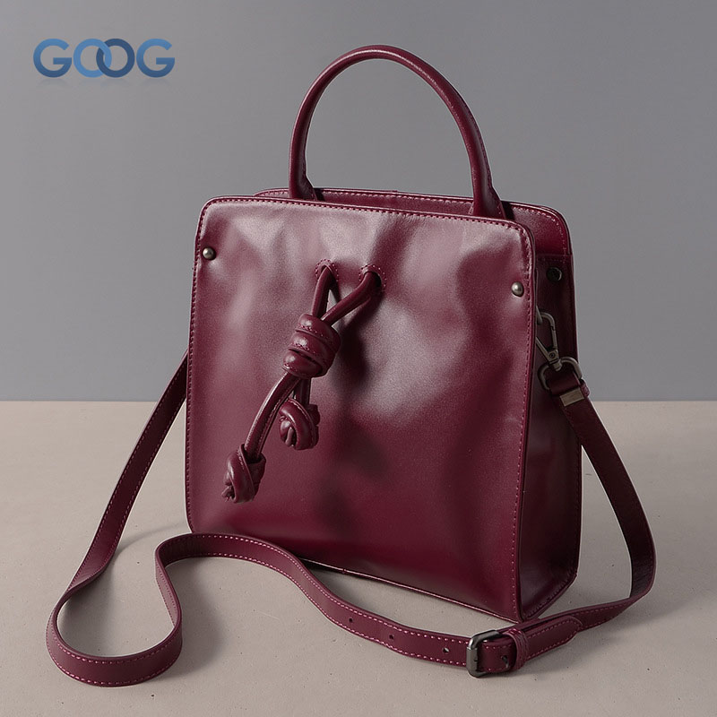 Leather ladies handbag new European and American fashion tassel lady pure color leather shoulder Messenger bag killer bag velvet bagthe european and american fashion small package pure color lock one shoulder inclined shoulder women2018messenger bag
