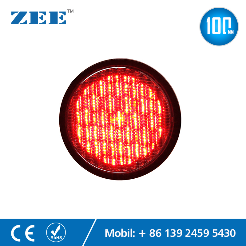 4 Inches 100mm LED Traffic Light Lamp Red Traffic Signal Module Mini LED Traffic Module Signals 220V 12V 24V