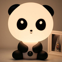 New EU Plug Baby Bedroom Lamps Night Light Cartoon Pets Panda PVC Plastic Sleep Led Kid