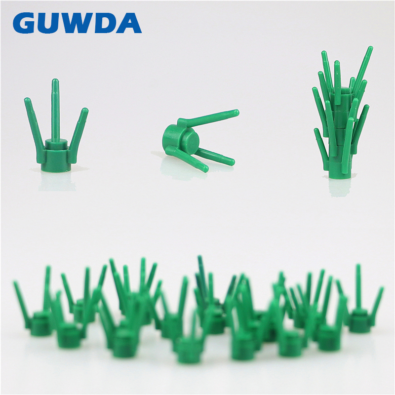 20PCS MOC Parts Green grass DIY Building Blocks Create Park Dioramas Model Accessory Compatible With Legoed City Bricks Toys image