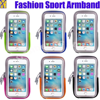 100pcs Armband Arm Band Waterproof Phone Case Cover Run Sports Belt Pouch Bag For Iphone X 8 7 6 6s Plus For Samsung S6 S7 S8 S9