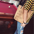 Женщины Сумки Крафт-Бумаги Холст Bolsas Я ХОЧУ, ЧТОБЫ МОЯ EYE МОЖЕТ СДЕЛАТЬ ФОТО Мода Сумки На Ремне Сумка мешок основной Q094