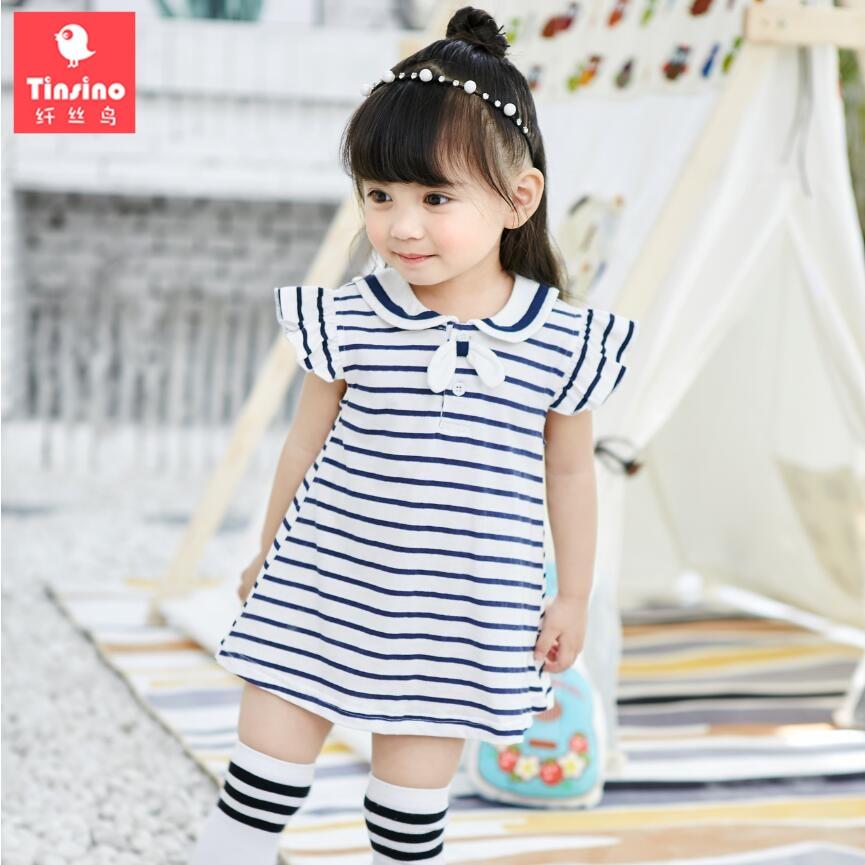 USA Toddler Baby Girls Kids Striped Sleeveless Short Mini Dress Skirt Clothes