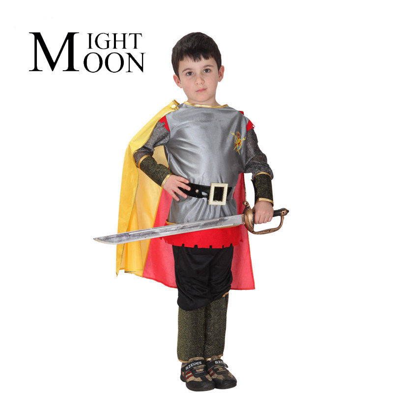 MOONIGHT Children Brave Roman Warrior King Prince Cosplay Performance Clothing Special Halloween