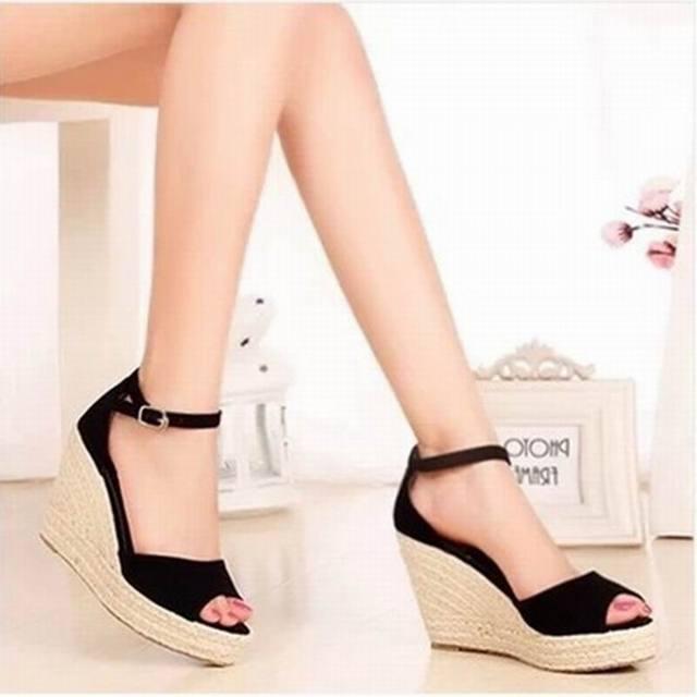 55da2d8cd Nice Summer New Fashion Women Straw Wedges Sandals Platform Open Toe Shoes  Women Shoes Sandals Plus Size 26-62
