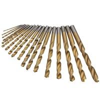 New Arrival 18pcs HSS 4241 Twist Drill Bit High Speed Steel Cobalt Coated Metric HSS Drilling