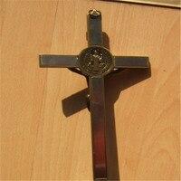 God Bless Standing Alloy Crucifix Jesus Holy Body Cross Christian Craft Good Friday Hanging Decoration Catholic Holy Article