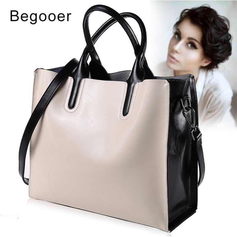 Genuine Leather Bag Ladies Handbag Women Shoulder Bag Bucket Bag White Women Messenger Bags Female Crossbody