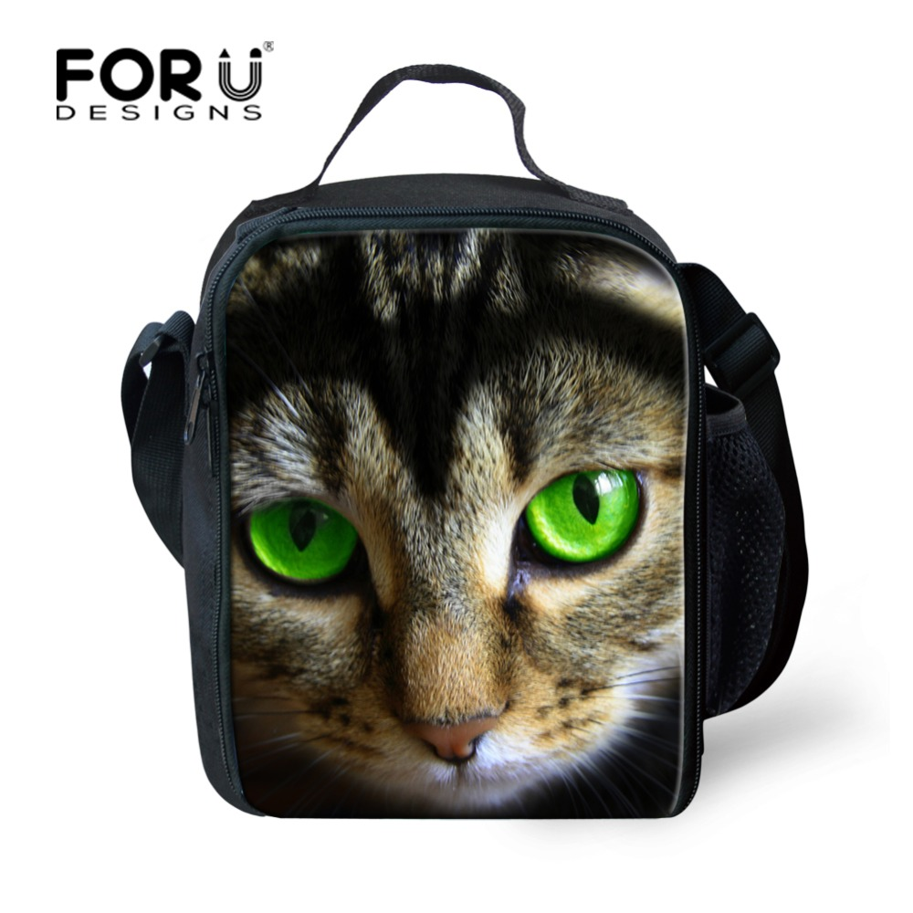 Cute Kids Lunch Bag Printing Cat Lunch Bag for Student Children Designer insulated Women Lunchbag Adult Keep Warm Food Bags
