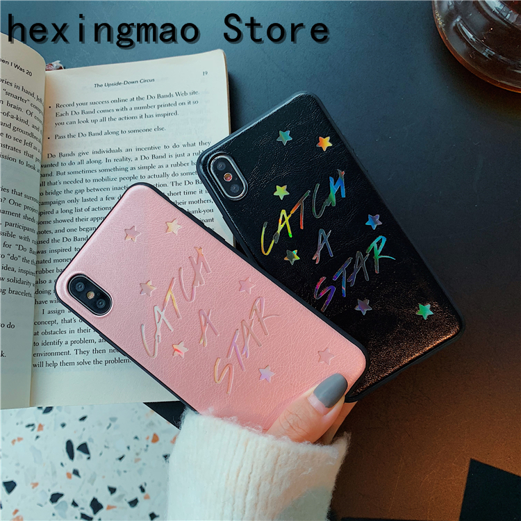 Audacious Fashion Dermatoglyph Laser Catch Star Letter Phone Case For Iphone Xs Max Case For Iphone X Xr 8 7 6 Plus Cover Couples Cases Phone Bags & Cases