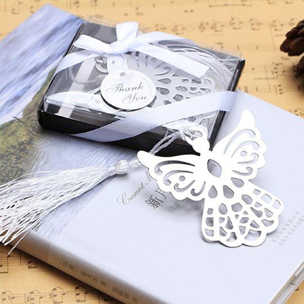 Holy Guardian ANGEL Alloy Bookmark Tassels Stationary Christening Wedding Gift