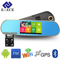 GPS Navigator Mirror Car Video Recorder With Bluetooth Full HD Resolution WIFI Camera Automobile DVR Rearview