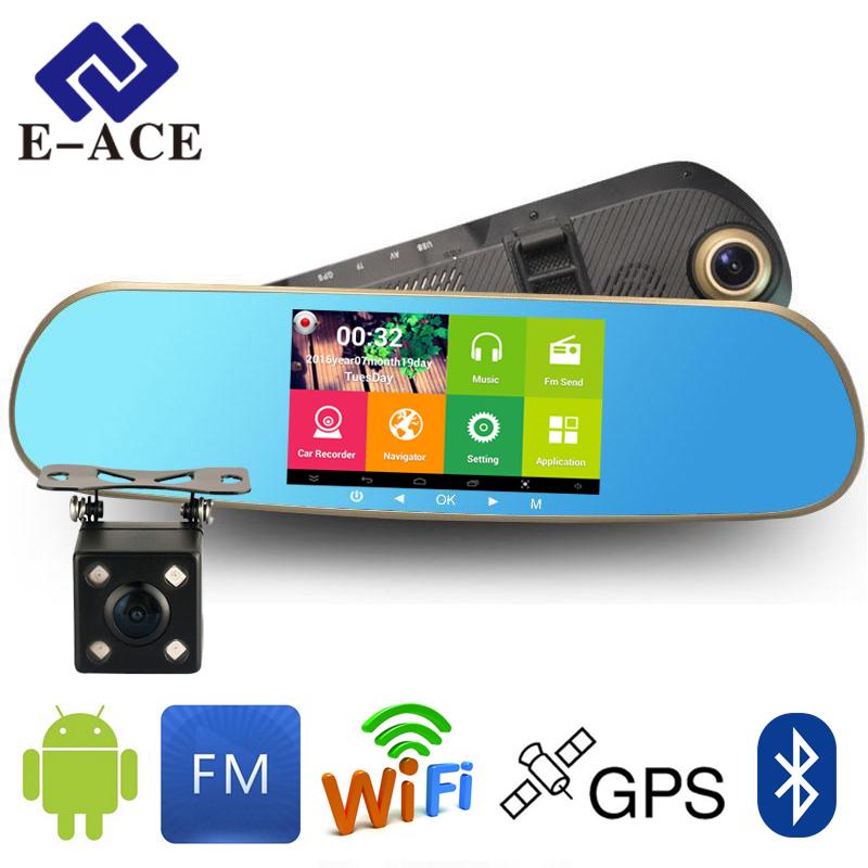 Prix pour GPS Navigateur Miroir De Voiture Enregistreur Vidéo Avec Bluetooth Full HD Résolution WIFI Caméra Automobile DVR Rétroviseur Dash Cam