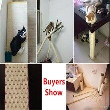 Сизальная веревка для кошек, деревьев, скалолазания, DIY, Когтеточка для кошек, игрушки для изготовления ножек стола, связывающая веревка для кошек, остроконечная коготь