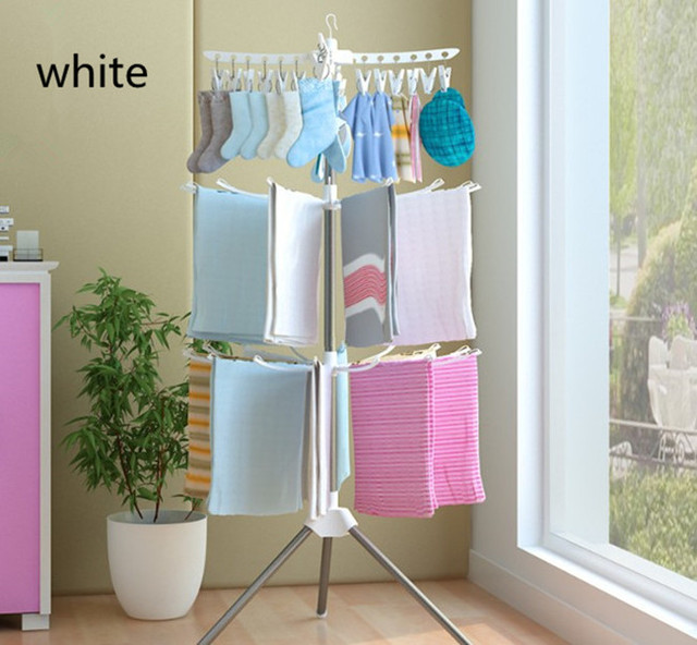 3 Tier Clothes Drying Rack Layers Storage Tie Belt Organizer E Saver Rotating
