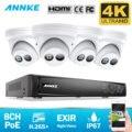 ANNKE 8CH 4K Ultra HD POE сетевая видео система безопасности 8MP H.265 + NVR с 4 шт 8MP Всепогодная ip-камера поддержка 128G TF карта