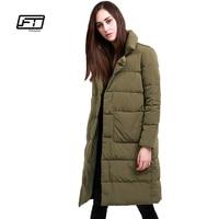 Fitaylor Winter Women 90 White Duck Down Parka Ultra Light Warm Long Design Loose Down Jacket