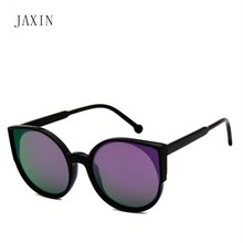 JAXIN Personality ladies sunglasses women  cat eyes wild trend glasses fashion coated multicolor Sun Glassesoculos femininoUV400