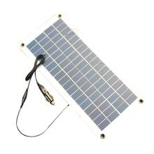 Полу-гибкая 18 В/5 В 10.5 Вт Портативный Панели солнечные Зарядное устройство для 12 В автомобилей Лодка Двигатель Батарея зарядное устройство DIY солнечной Системы Новый