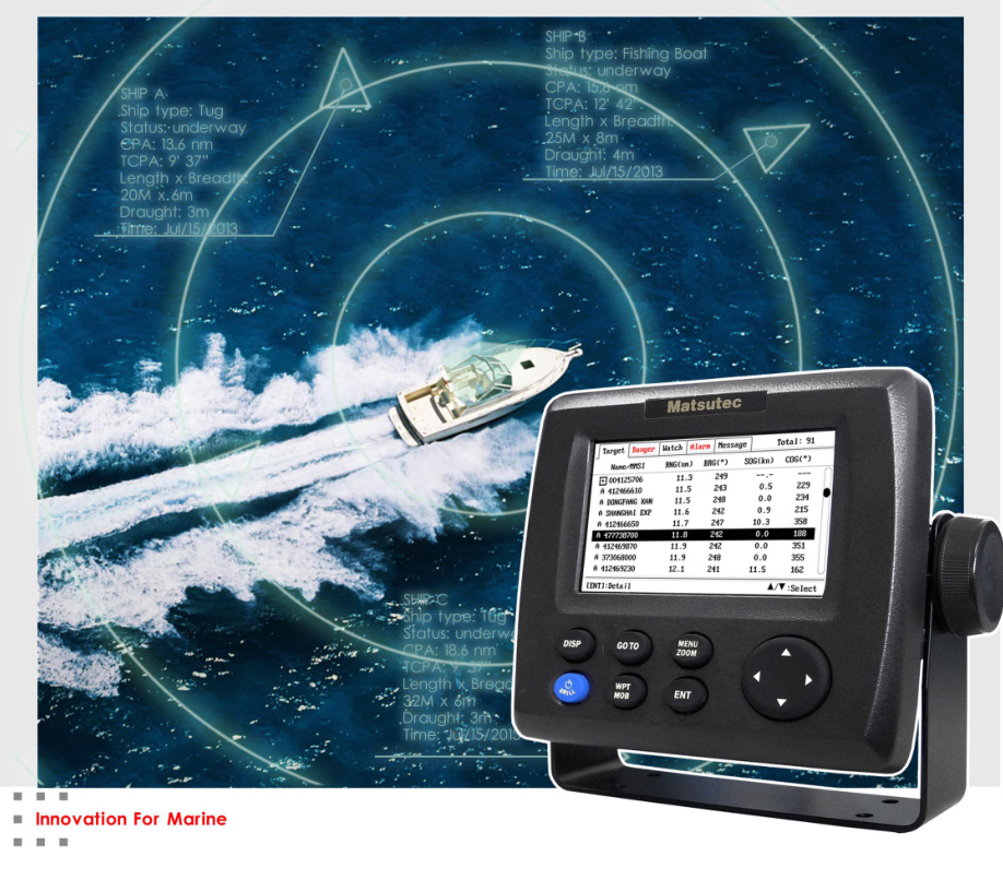 "imágenes para Matsutec HP-33A 4.3 ""Color LCD Transpondedor AIS Clase B Combo Alta Marina Navegador GPS"
