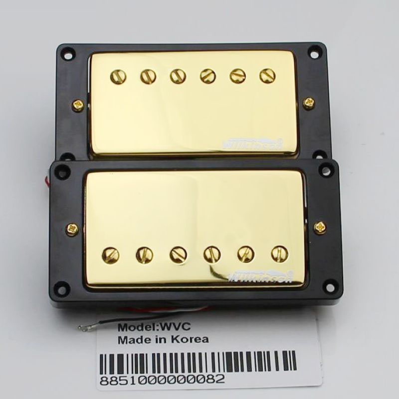 Gold LP electric guitar pickups Han dual coil pickups closed Wilkinson WVC new wilkinson gold lp sg es electric guitar humbucker pickups closed wvc gold cover made in korea