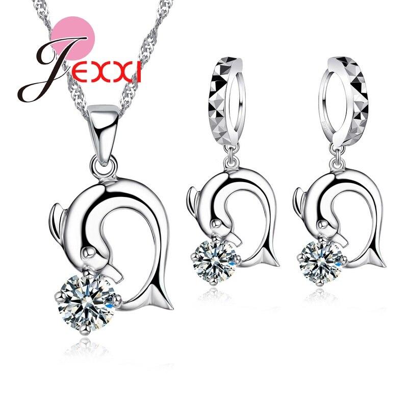 HX 1 Paire Femme Fahion argent acier inoxydable Boucles d/'oreilles avec Brillant CZ Stone