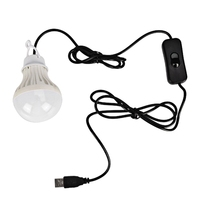 Jiguoor 5V 5W Camping LED Bulb USB Port Touch Switch Outdoor LED Light Energy Saving Hiking
