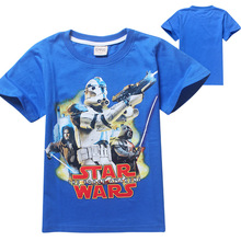 2016 star wars short sleeve t-shirts boys short sleeve tshirts STAR WARS t shirt kid baby boys camisetas star wars clothes