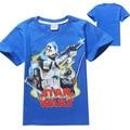 2016 star wars manga curta camisetas meninos de manga curta t-shirts STAR WARS camiseta criança do bebê meninos camisetas star wars roupas