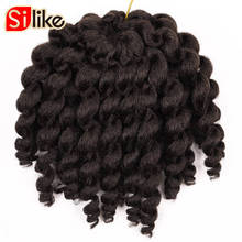 Silike 8 inch Jumpy Wand Curl Crochet Braids 22 Roots Jamaican Bounce Crochet Braiding Hair 9 Colors Available for Black Women(China)